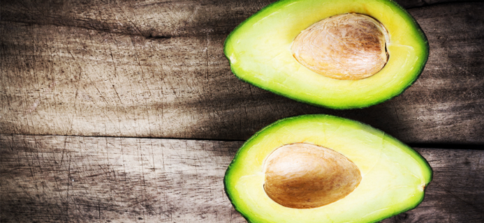 avocado halves, top ten foods for fertility by healthista.com