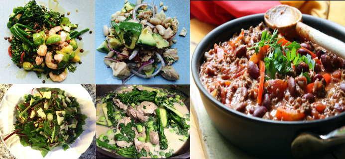 Slider of 5 healthy foods for under a five, 5 healthy dishes under a fiver, by Healthista.com
