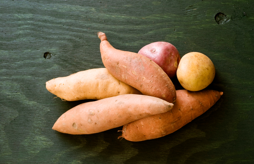 sweet potatoes, grocery list to help fight fatigue by healthista.com