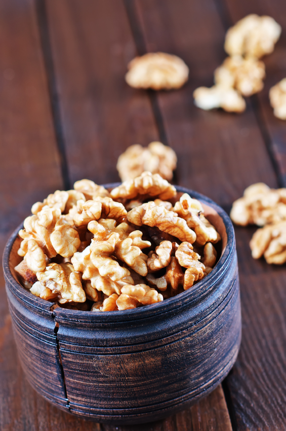 bowl of walnuts, top ten foods for fertility by healthista.com