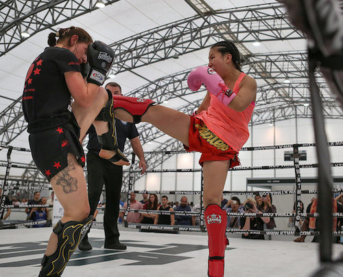 It doesn't more serious than Team Tieu's Muay Thai kickboxing classes.