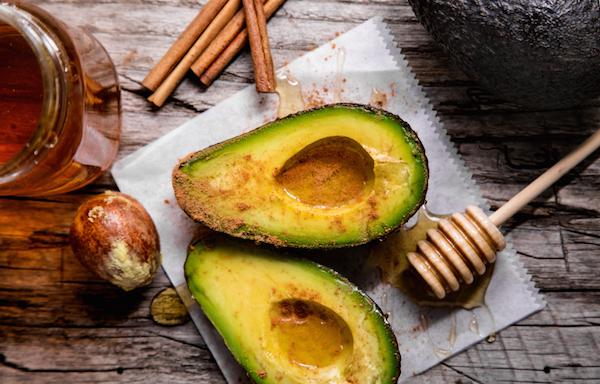 avocado with honey, by Healthista.com