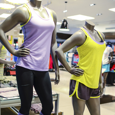 Mannequin at sport clothing store, by Healthista.com