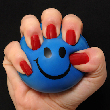stress ball, by Healthista.com