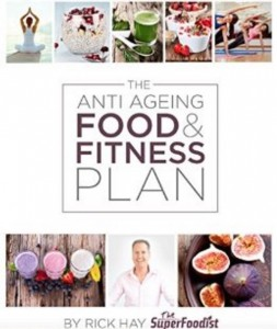 The Anti Ageing food & fitnes plan, book cover, by healthista.com