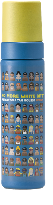 No More White bits, fake tans, by healthista.com