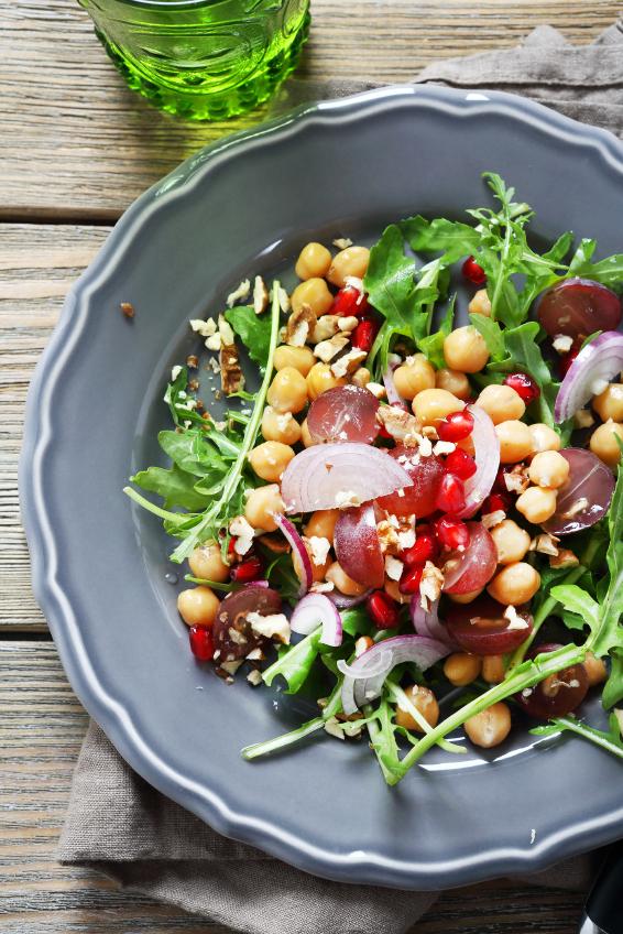 Crispy salad on a plate