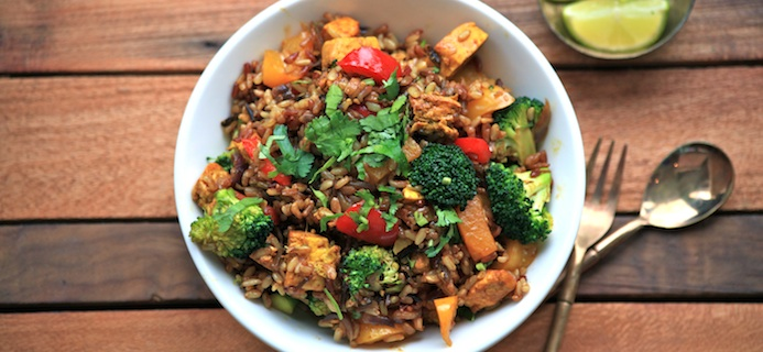 Tofu and Wild Rice, slider, 5 foods for vegetarians, by healthista.com
