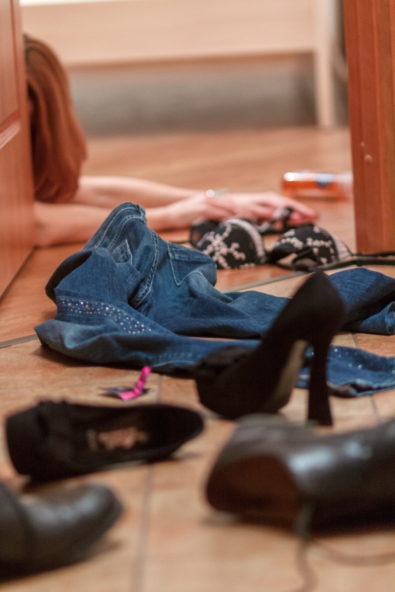 clothes on bedroom floor, ways to spice up your sex life, by healthista.com
