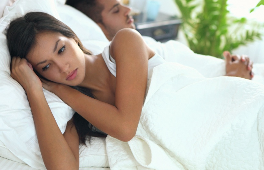 couple awkward in bed, ways to talk about sex, by healthista.com