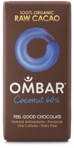 Ombar Coconut, best vegan chocolates, by healthista.com final