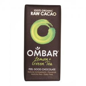 Ombar lemon and green tea, best vegan chocolate, by healthista.com