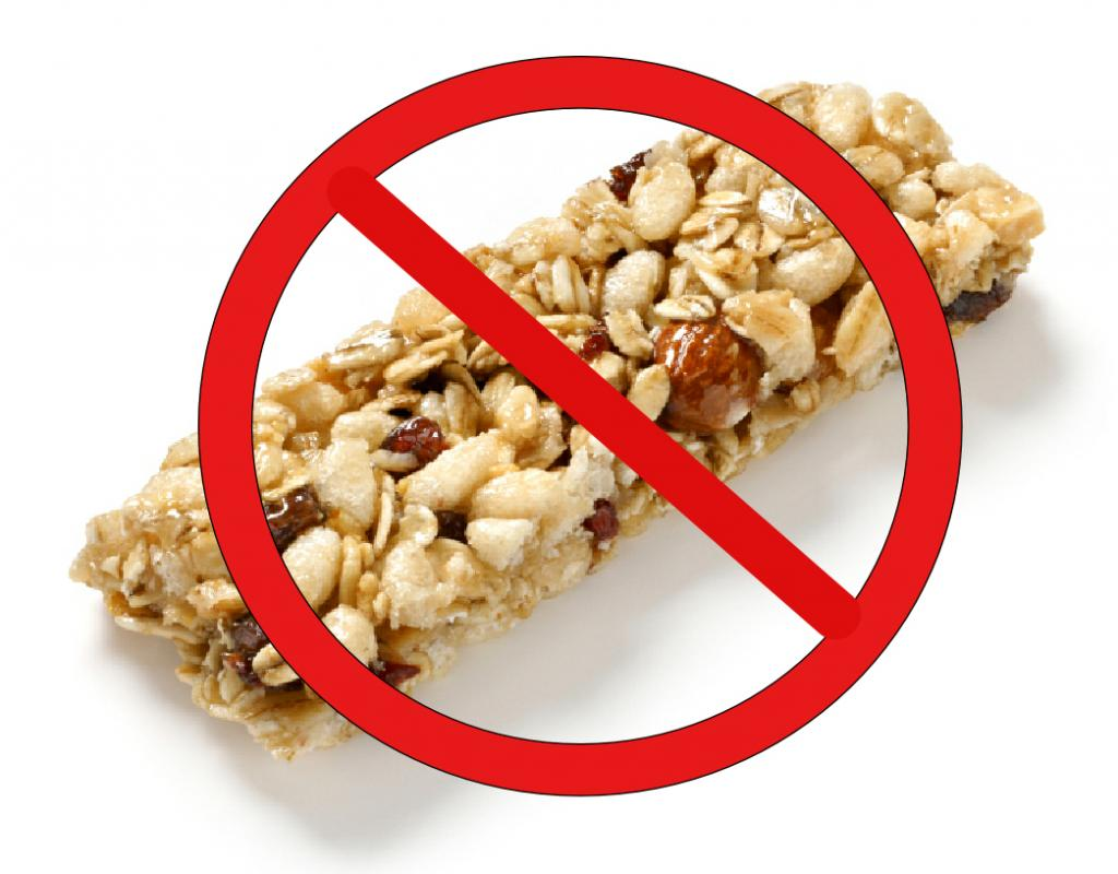 no granola bars. how to lose 2 stone. by healthista