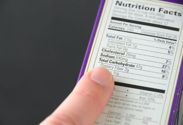 nutrition label. how to lose 2 stone. by healthista