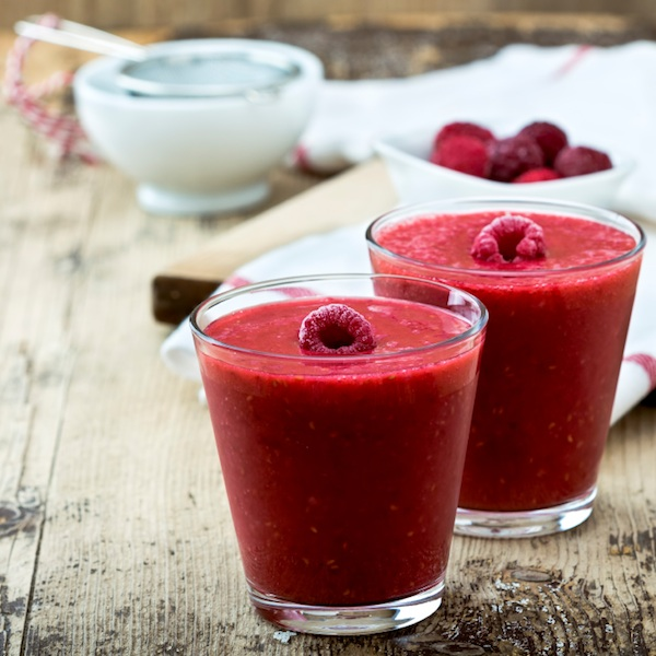 raspberry smoothie, weight loss smoothies, by healthista.com