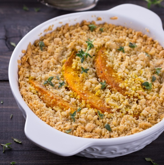 vegetable crumble, 7 healthy christmas recipes, by healthista.com