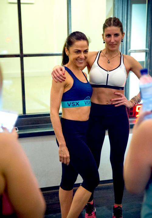 Anna and Svava, Victoria's Secret Sport Launch by healthista.com