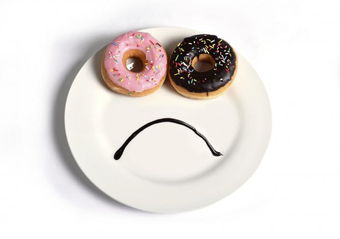 Sad donuts, comfort eating by healthista.com