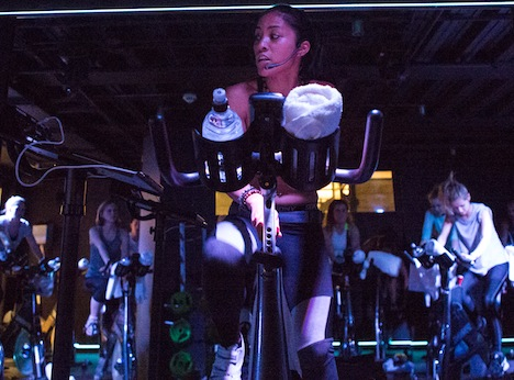 Spin class at third space gym, third space, by healthista