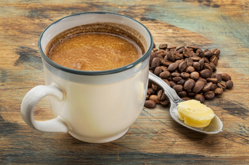 cup of fatty coffee with butter Health trends in 2016 by Healthista