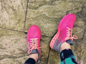 Pink trainers side view, fuzex review, by healthista