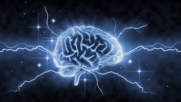 Brain with blue lightening, 7 ways to boost your brain performance, by healthista.com