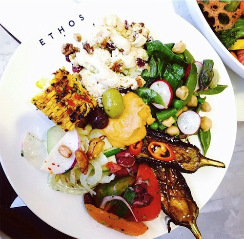 Ethos food picture, vegetarian resturaunts in london, by healthista
