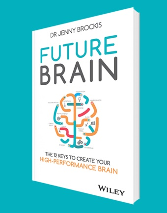 Future brain book cover, 7 ways to boost your brain power, by healthista