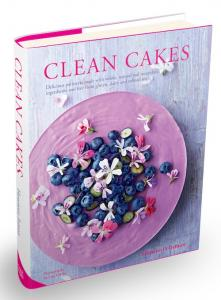clean cakes front cover, gluten free cake recipes, by healthista