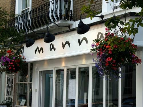 manna resturant outside, vegetarian resturants in london, by healthista
