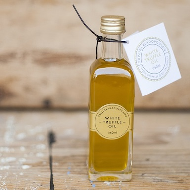 white truffle oil on wooden table, farmdrop review, by healthista
