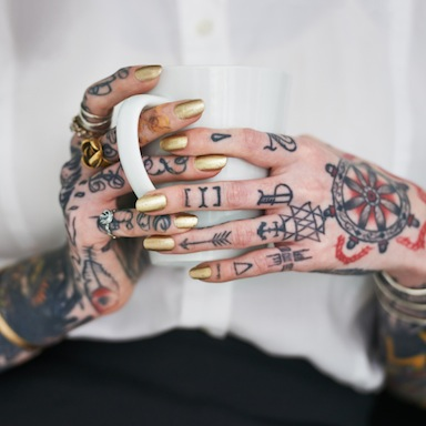 woman's tattooed hands, am i too old to get a tattoo, by healthista
