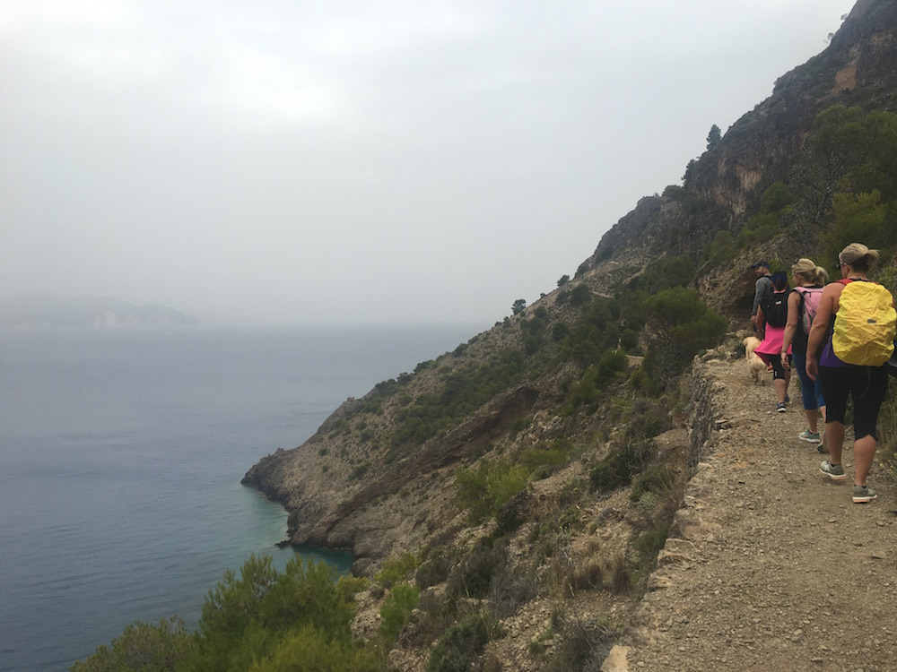 Setting off on our stunning hike around the mountains encircling the town of Assos