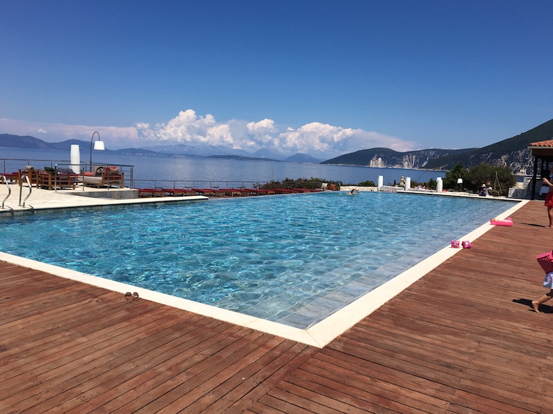 The main pool with its panoramic views