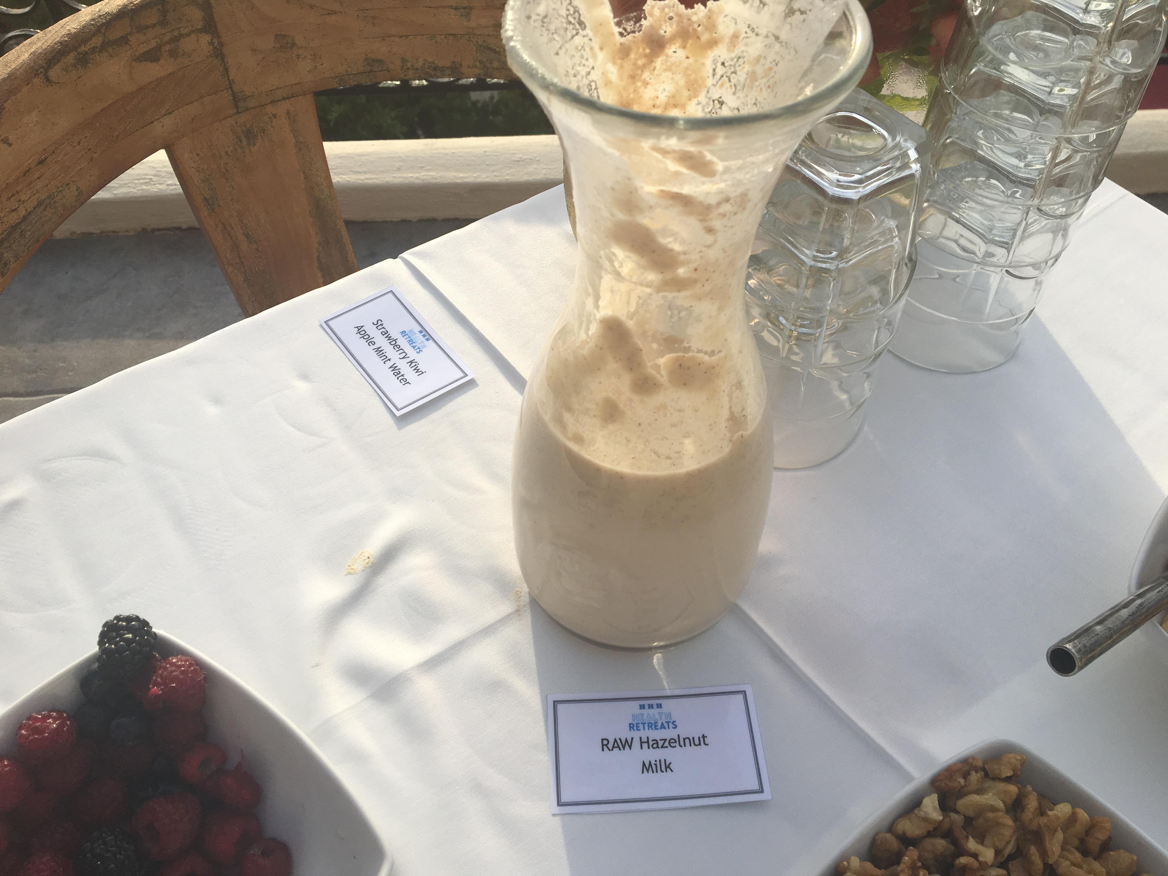 raw hazelnut milk