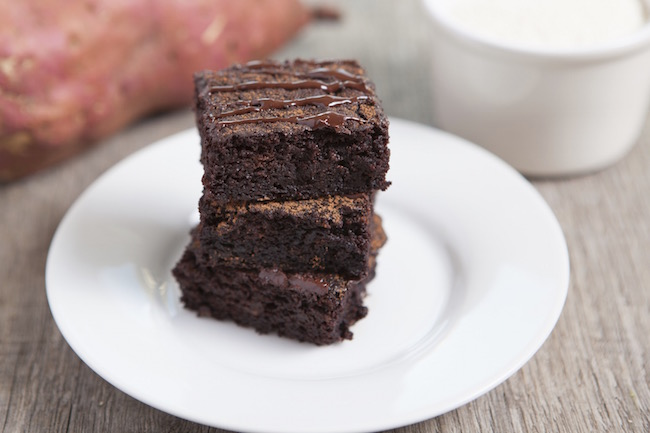 brownies, sweet potato, by healthista.com