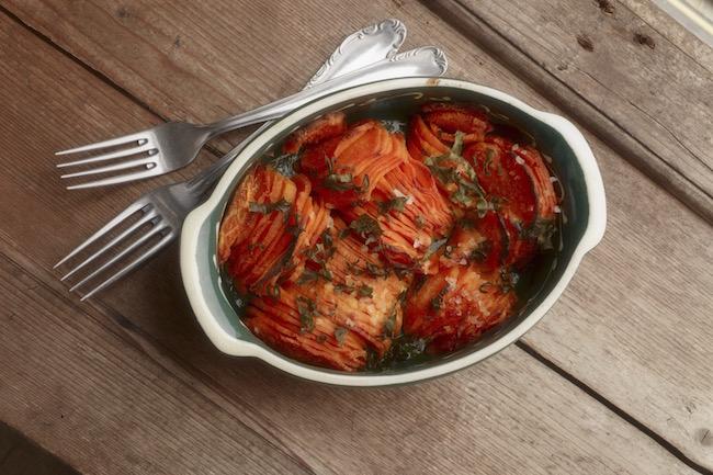 gratin, sweet potato, by healthista.com