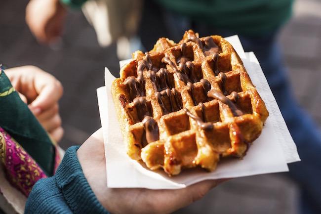 waffles, sweet potato, by healthista.com