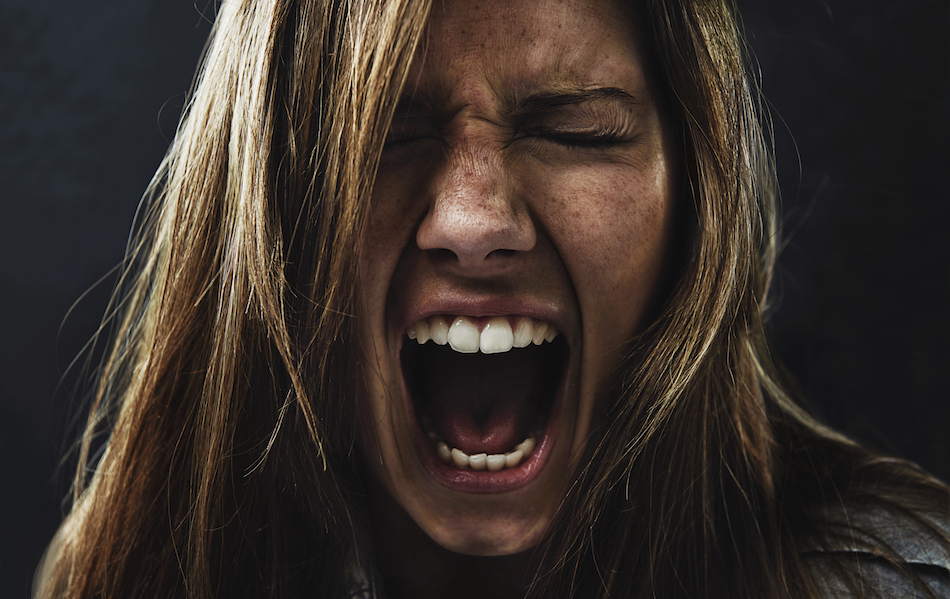 1 / 1 – angry women, 5 stress symptoms, by Healthista.com