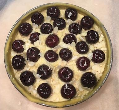 My uncooked cherry tart