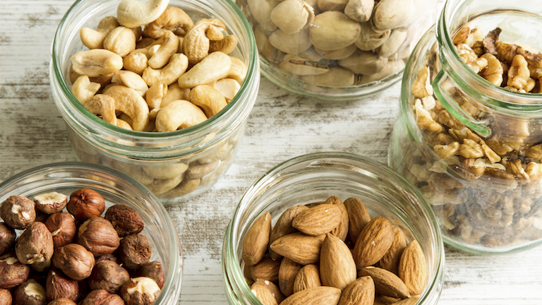 nuts, 9 healthy fats to help you live longer, by healthista