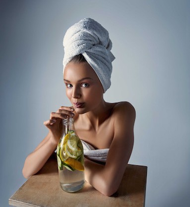 woman drinking, eat beautiful, by healthista.com