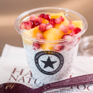 Pret mango and chia seed pot, Eating out as a vegan - my 4 week no meat, egg or dairy challenge by healthista