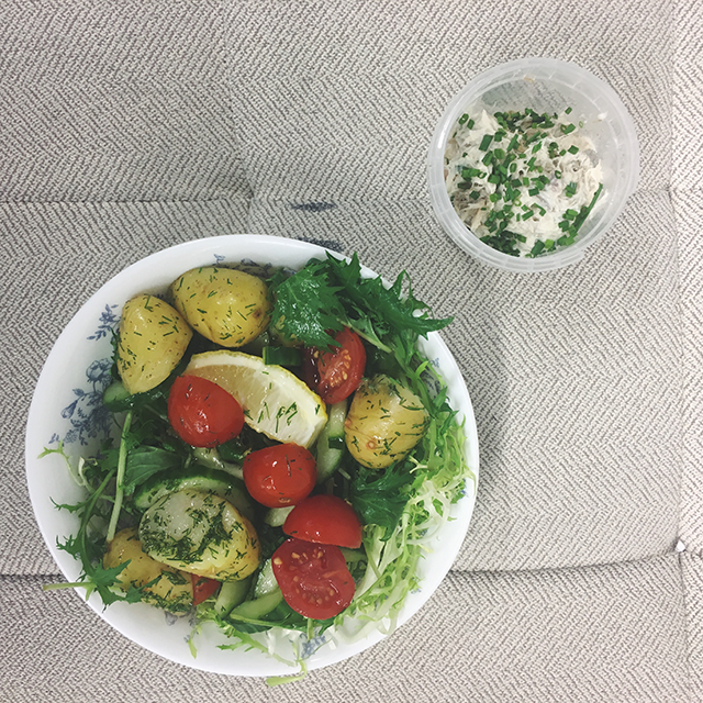 mackrel pate potato salad balance box, Best delivery services in London by healthista