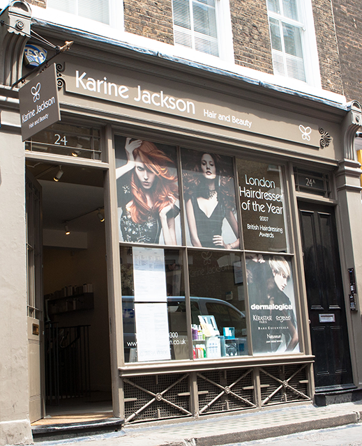 outside salon Karine Jackson, Healthista reviews London's vegan-friendly salon, plus THE hair trend to look out for in 2017 by healthista