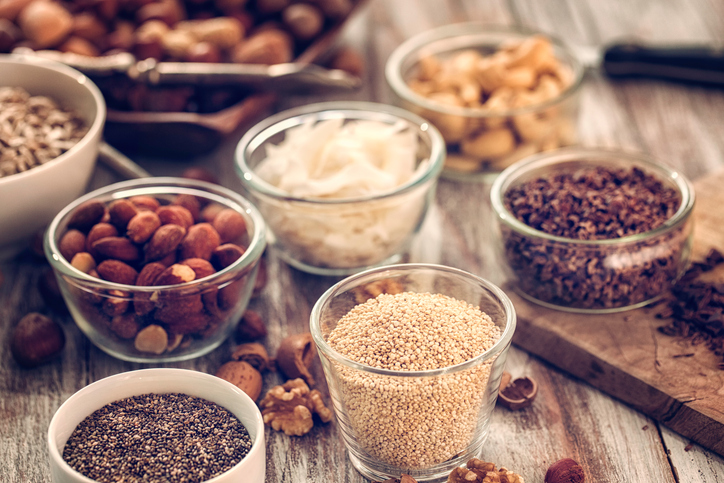 seeds and nuts, How to keep your new years resolutions by healthista