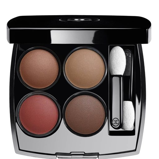 Chanel Les 4 Ombres Multi Effect Quadra Eyeshadow in Candeur and Experience, ruth negga's makeup artist, by healthista.com