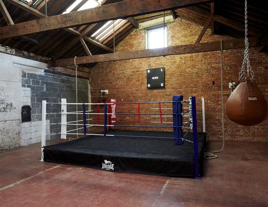 The boxing ring at BLOK