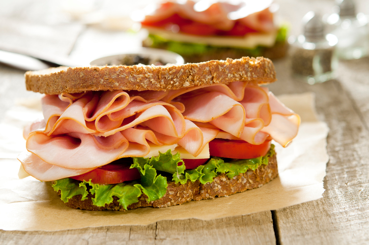 ham sandwich, 6 healthy lunch swaps for a healthy midday meal by healthista