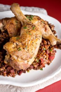 Chicken with Lentils, top 10 tips simple tips to make sure you eat 10-a-day, by healthista.com